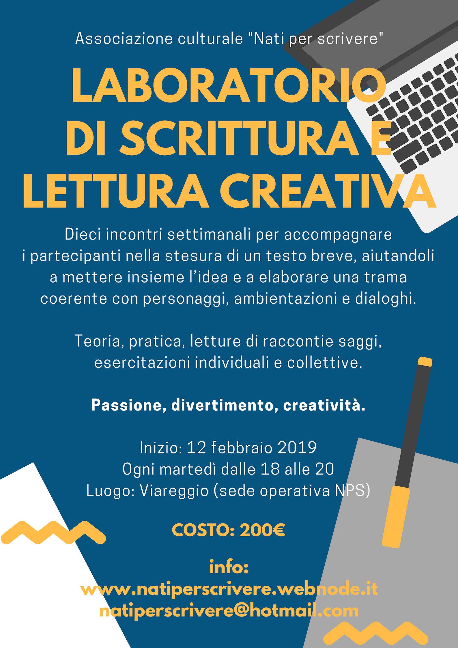 Laboratorio di scrittura creativa @ Sede operativa NPS, Viareggio