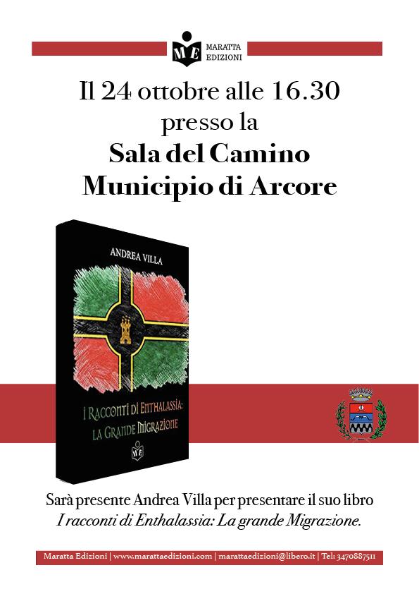 """""""Presentazione I racconti di Enthalassia: la grande migrazione di Andrea Villa"""" @ Sala del Camino"""